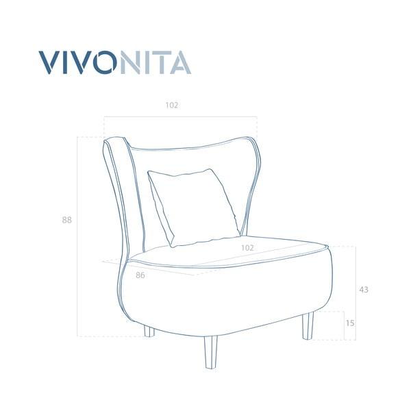 Svetlofialové kreslo Vivonita Douglas Love Seat