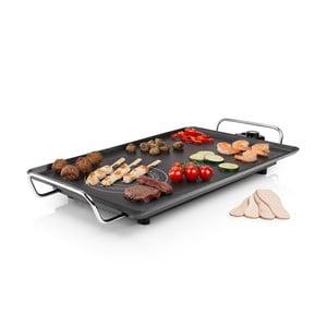 Čierny elektrický stolový gril Princess Table Chef Hot-Zone, príkon 2500W