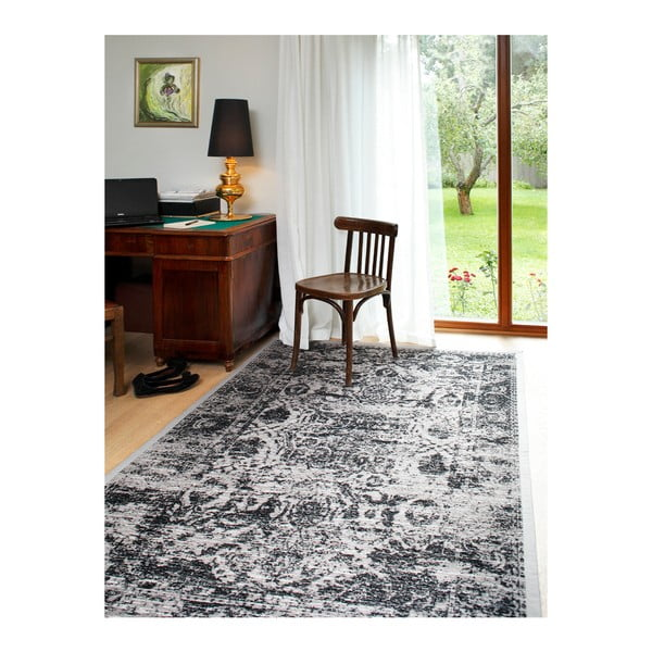 Sivo-béžový vzorovaný obojstranný koberec Narma Palmse, 160 × 230 cm