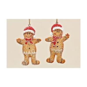 Sada 2 ks závesných dekorácií Ginger Bread