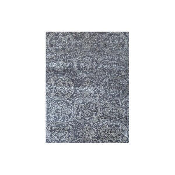 Ručne tkaný koberec Ring, 153x244 cm, sivý