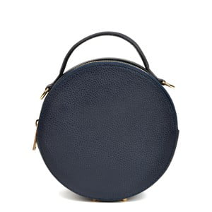 Tmavomodrá kožená kabelka Isabella Rhea Valerio