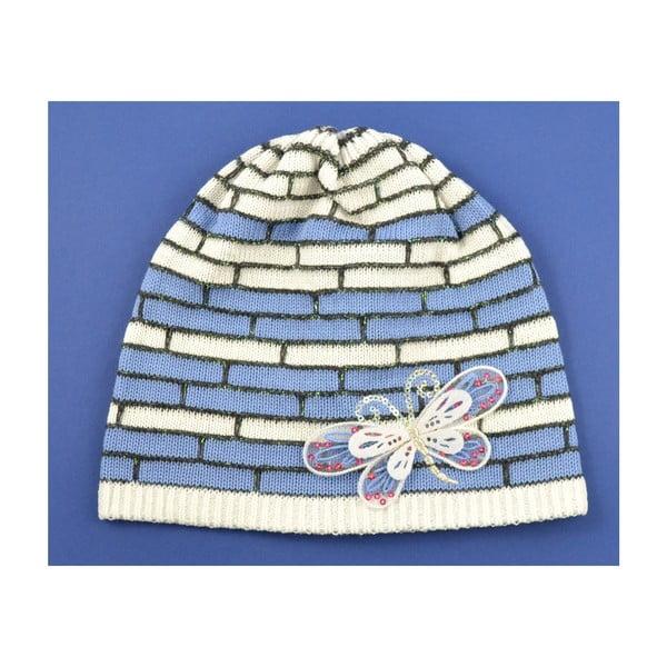 Dievčenská čapica Cegiel, biela/modrá