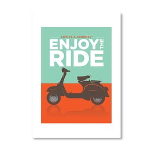 Autorský plagát Enjoy the Ride Vespa