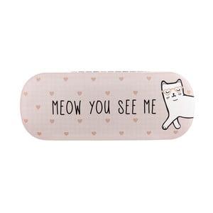 Ružové puzdro na okuliare Sass & Belle Cutie Cat