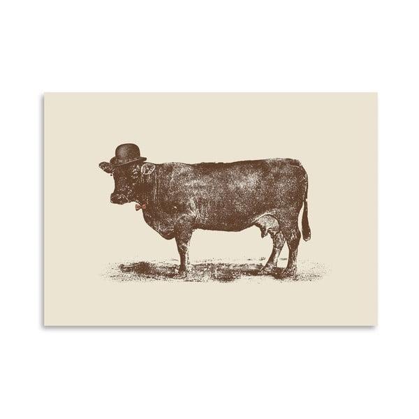 Plagát Cow Cow Nut od Florenta Bodart, 30x42 cm