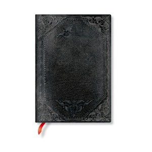 Linajkový zápisník s mäkkou väzbou Paperblanks Midnight Rebel, 13 x 18 cm