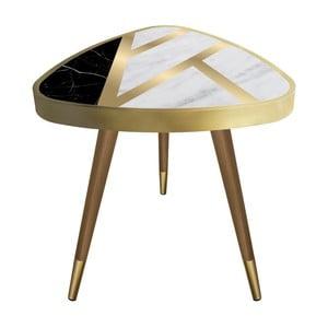 Príručný stolík Maresso Liny Marble Triangle, 45 × 45 cm