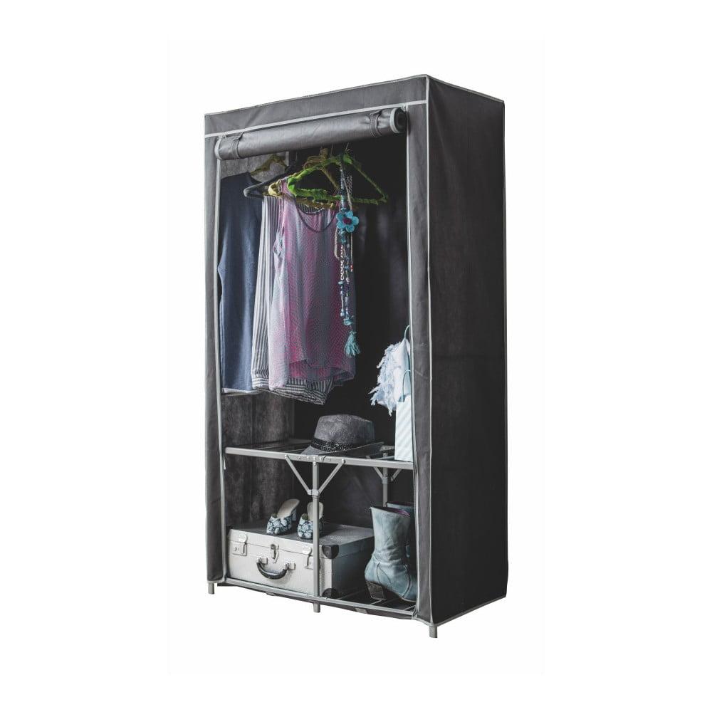 ac28ce47b6bc Čierna textilná šatníková skriňa Compactor Wardrobe Organized