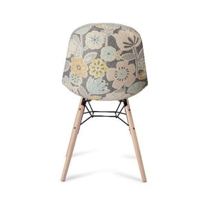 Sivá jedálenská stolička s nohami z bukového dreva Furnhouse Sun