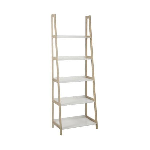 Regál/knihovna Wally, výška 180 cm, biely