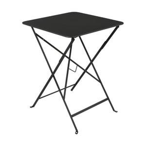 Čierny záhradný stolík Fermob Bistro, 57×57 cm