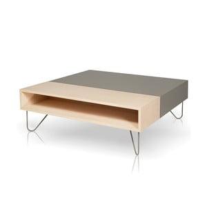 Konferenčný stolík Vintme AL2, sivá/dub