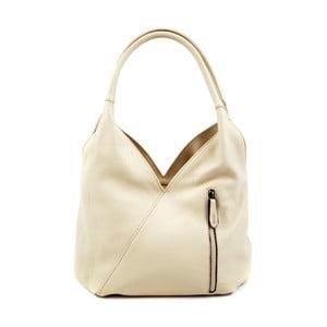 Svetlobéžová kožená kabelka Roberta M Rosella