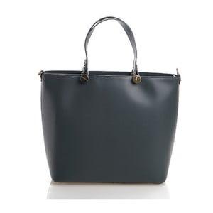 Kožená kabelka Viviana, modrosivá