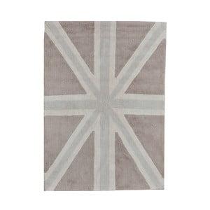 Béžový bavlnený ručne vyrobený koberec Lorena Canals UK, 120 x 160 cm
