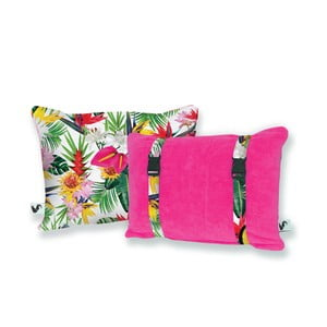 Ružový obojstranný plážový vankúš Origama Tropic