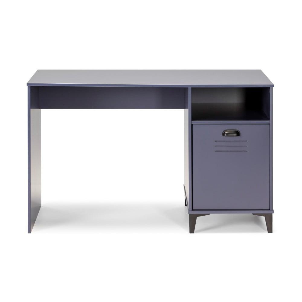 Modrý písací stôl Marckeric Zack, 120 × 75 cm