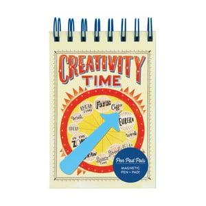 Zápisník s perom Chronicle Books Creativity Time