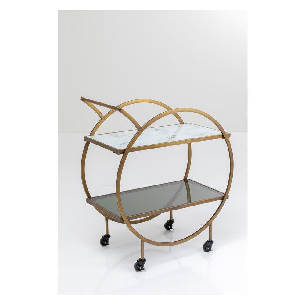 Kovový odkladací stolík na kolieskach Kare Design Loft, výška 85 cm
