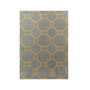 Koberec Tile 90x150 cm, sivožltý