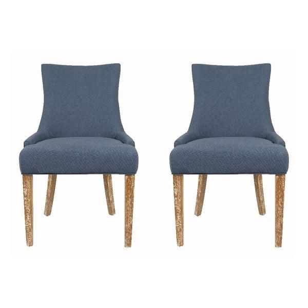 Sada 2 stoličiek Lester Blue