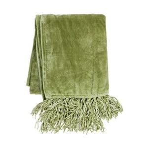 Zelený pléd Tiseco Home Studio Flanelo, 170 x 130 cm