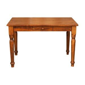 Drevený jedálenský stôl so zásuvkou Biscottini Drawer, 120 x 80 cm