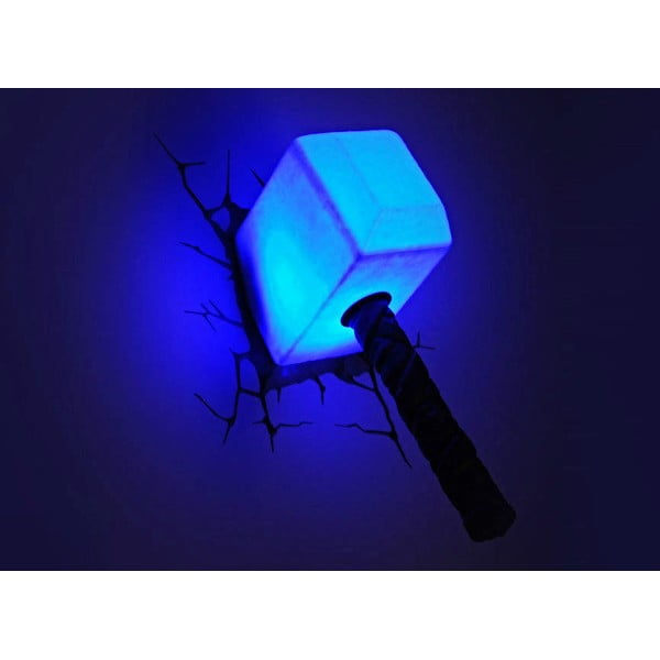 Detské 3D svetlo na stenu Thórovho kladivo