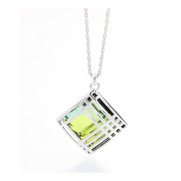 Náhrdelník Laura Bruni so Swarovski Elements Green Cage