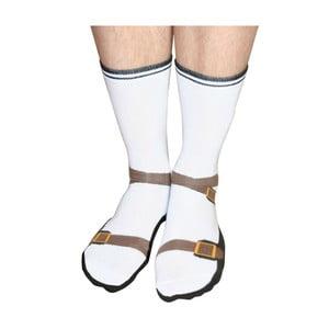 Ponožky s motívom ponožiek v sandáloch Gift Republic Sandals, veľkosť 37 - 45