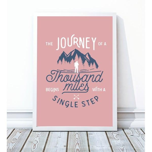 Zarámovaný plagát Single Step, 30x40 cm