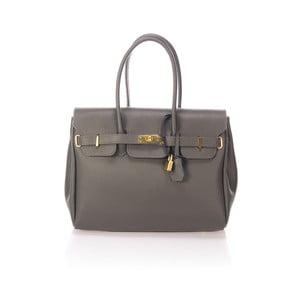 Sivá kožená kabelka Giulia Massari Dollaro