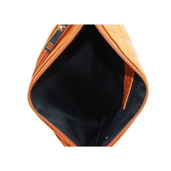 Kožená listová kabelka Terances Cognac