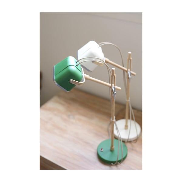Stolová lampa Mob Wood, zelená