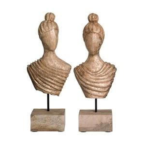 Sada 2 dekoratívnych sošiek Ixia Bust