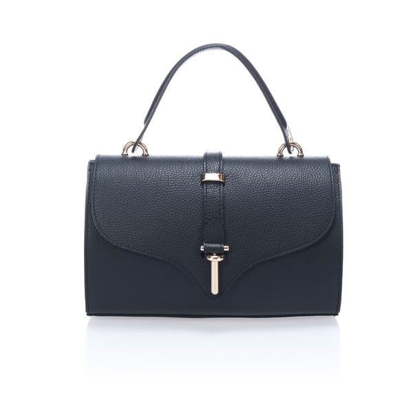 Čierna kožená kabelka Markese Genoveffa