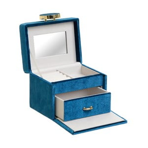 Dekoratívna modrá šperkovnica InArt Velvet