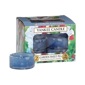 Sada 12 vonných sviečok Yankee Candle Kvety zo záhrady, doba horenia 4 - 6 hodín
