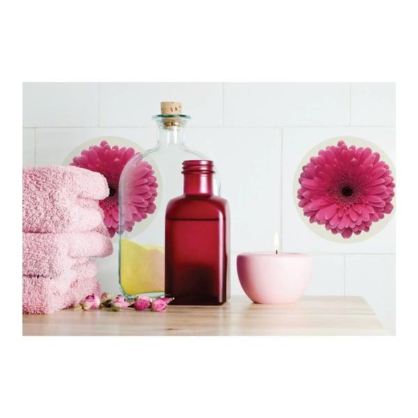 Samolepky Flower Pink