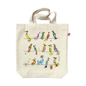 Plátenná taška Farební vtáci