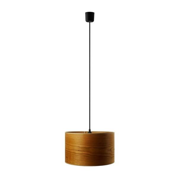 Závesné svietidlo z prírodnej dyhy vo farbe čerešňového dreva Sotto Luce TSURI, Ø 40 cm