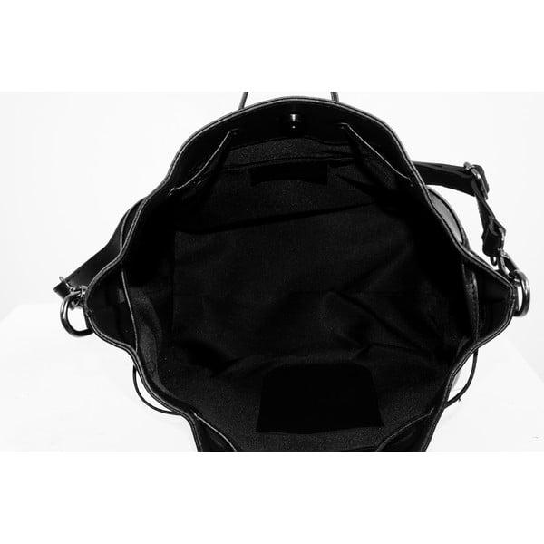 Kožená kabelka Farah, čierna