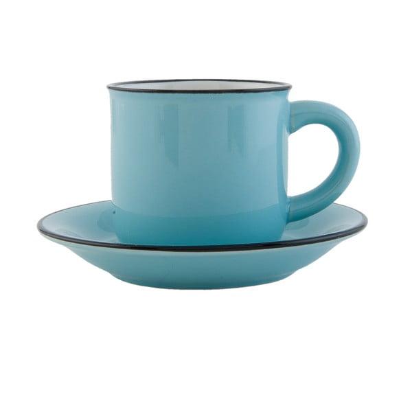Sada modrej šálky s tanierikom Clayre & Eef Countryside