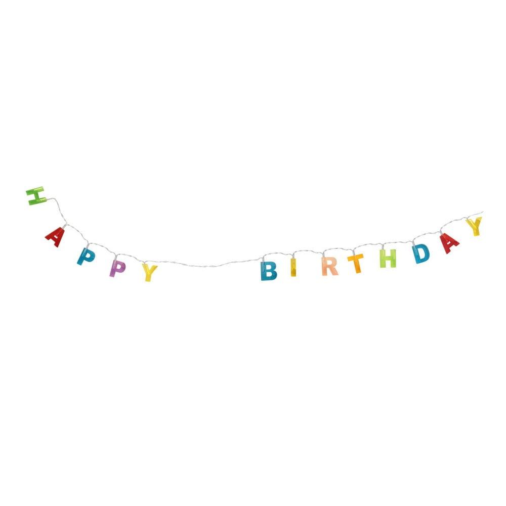 Nástenná svetelná girlanda Le Studio Happy Birthday, dĺžka 188 cm