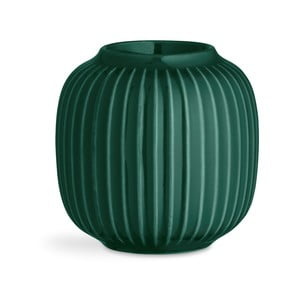 Zelený porcelánový svietnik na čajové sviečky Kähler Design Hammershoi, ⌀ 9 cm