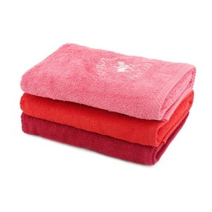 Sada 3 červených uterákov BHPC, 50x100cm