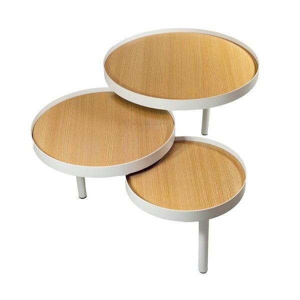 Trojitý odkladací stolík Triplex Natural