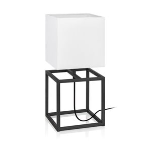 Čierno-biela stolová lampa Markslöjd Cube, 20 x 20 cm