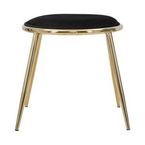 Čierna stolička Mauro Ferretti Emily, ⌀ 45 cm
